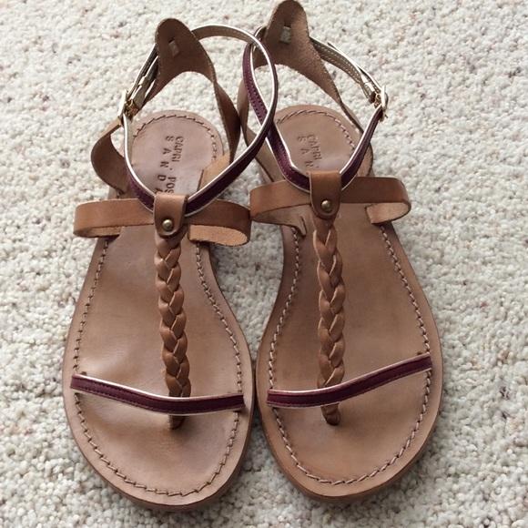 f7e031746fbd Capri Positano Shoes - Capri Positano Faro Dark Tan Sandal. Size 38.